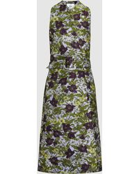 Erdem - Fleurette Floral-jacquard Sleeveless Coat - Lyst