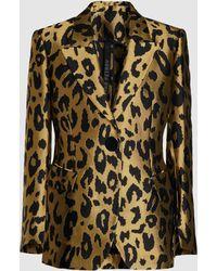 Petar Petrov - Justin Leopard Print Jacquard Blazer - Lyst