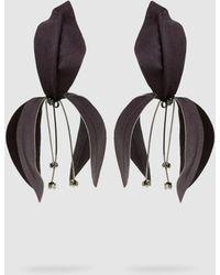 Marni - Sateen Flower Earrings - Lyst