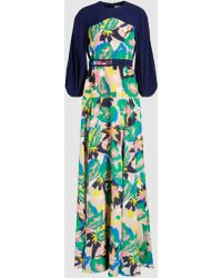 Delpozo - Floral Printed Crepe Gown - Lyst