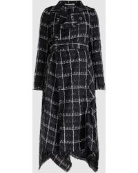 Roland Mouret - Kennedy Belted Checked Weave Coat - Lyst