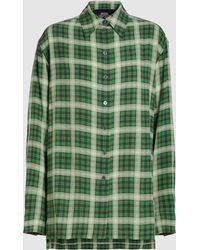 Marc Jacobs - Plaid Silk Shirt - Lyst