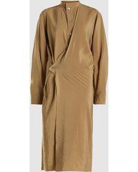 Lemaire - Button Front Silk Twist Shirt Dress - Lyst