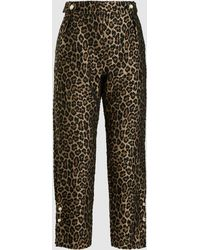 Mother Of Pearl - Embellished Cropped Jacquard Trousers - Lyst
