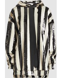 Marques'Almeida - Two-tone Striped Sequin Hoodie - Lyst