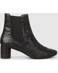 Stine Goya - Anita Glittered Leather Ankle Boots - Lyst