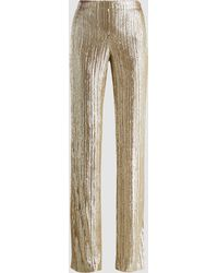 Madiyah Al Sharqi - Sequinned Straight-leg Trousers - Lyst