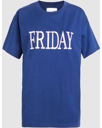 Alberta Ferretti - Friday Cotton-jersey T-shirt - Lyst