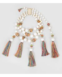 Rosantica - Arlecchino Beaded Gold-tone Necklace - Lyst
