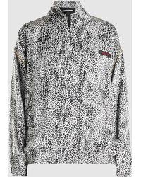 Alessandra Rich - Leopard Print Silk Tracksuit Jacket - Lyst