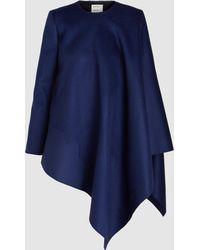 Maison Rabih Kayrouz - Asymmetric Cape-style Jacket - Lyst