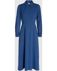 Cefinn - Arden Zip Front Voile Shirt Dress - Lyst