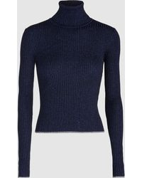Marco De Vincenzo - Lurex Turtleneck Jumper - Lyst