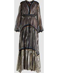 Peter Pilotto - Metallic Chiffon Gown - Lyst