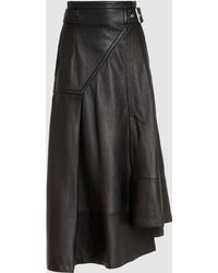 3.1 Phillip Lim - Panelled Leather Midi Skirt - Lyst