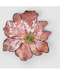 Christopher Kane - Bead And Sequin-embellished Flower Brooch - Lyst