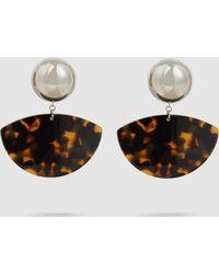 Rachel Comey - Susa Tortoise Acrylic Earrings - Lyst