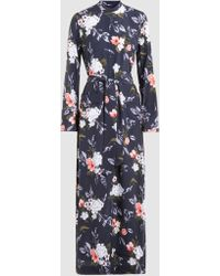 Equipment - Britten Printed Washed-silk Maxi Dress - Lyst