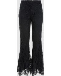 Anna Sui - Peacock Scallop Lace Lined Trousers - Lyst