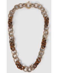 Rosantica Carrarmato Beaded Quartz Gold-tone Necklace