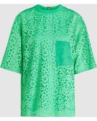 Tibi - Boat Neck Lace T-shirt - Lyst