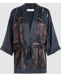 IRO - Dafoe Paisley-print Silk Kimono Top - Lyst