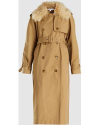 741110c108b Elizabeth and James - Stratford Oversized Fur Collar Trench Coat - Lyst