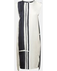 Theory - Silk Twill Striped Pull-on Trouser - Lyst