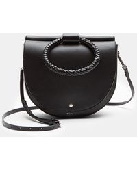 Theory - Large Whitney Bag With Braid Hoop In Nappa Leather - Lyst