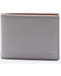 Theory - Pebble Leather Billfold Wallet - Lyst