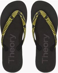 Theory - Embossed Snake Flip Flop - Lyst