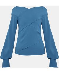 Theory - Stretch Crepe Wrapped Top - Lyst