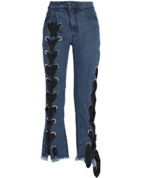 Marques'Almeida - Lace-up Flared Jeans Mid Denim - Lyst