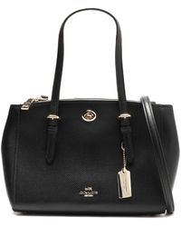 COACH - Textured-leather Shoulder Bag - Lyst
