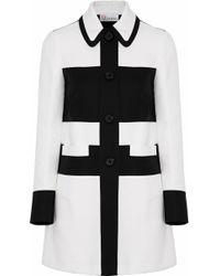 RED Valentino - Two-tone Cotton-gabardine Jacket - Lyst