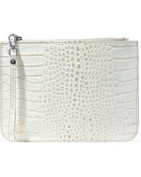 Iris & Ink - Ned Croc-effect Leather Pouch - Lyst