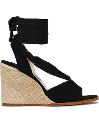 Paloma Barceló - Faco Suede Espadrille Wedge Sandals - Lyst