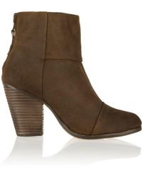Rag & Bone - Woman Classic Newbury Suede Ankle Boots Brown - Lyst