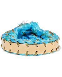 Aurelie Bidermann - Copacabana Gold-tone Braided Cotton Cuff - Lyst