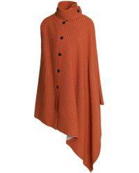 Sonia Rykiel - Asymmetric Checked Wool-blend Cape - Lyst