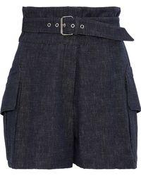 Derek Lam - Buckled Denim Shorts - Lyst