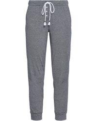 Skin - Woman Pima Cotton-jersey Pyjama Trousers Navy - Lyst