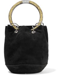 Edie Parker - Olivia Small Suede Tote - Lyst