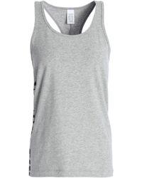 Calvin Klein - Printed Mélange Stretch-cotton Jersey Pajama Top - Lyst