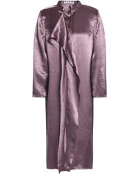 Acne Studios - Draped Hammered-satin Dress - Lyst