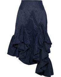Marques'Almeida - Asymmetric Ruffled Metallic Shell Skirt - Lyst