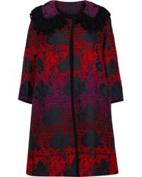 Anna Sui - Floral-jacquard Jacket - Lyst