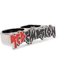 RED Valentino - Silver-tone Enamel Ring - Lyst