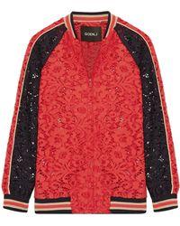 Goen.J - Cotton-blend Corded Lace Bomber Jacket - Lyst