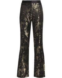 Roberto Cavalli - Metallic Jacquard Straight-leg Trousers - Lyst